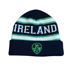 Lansdowne Adults Navy Green White Ireland Knit Hat
