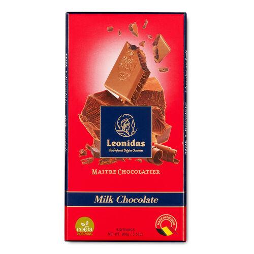 Leonidas Milk Chocolate Tablet 100g