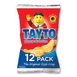 Tayto Tayto Cheese & Onion Flavour Potato Crisps 12 Pack 300g
