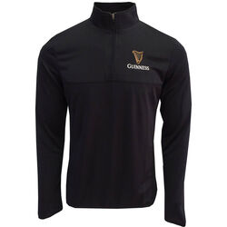Guinness Guinness Black Performance Top With Quarter Zip