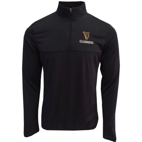 Guinness Guinness Black Performance Top With Quarter Zip L