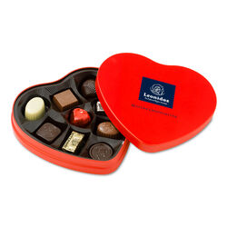 Leonidas Metal Heart Gift Box 9pc
