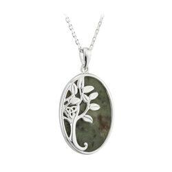 Solvar  S/S Marble Tree Of Life Pendant