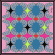 Debbie Millington Chameleon Pink Silk Scarf  90cm