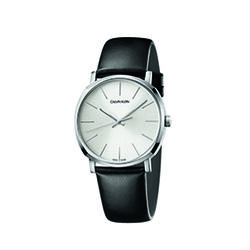 Calvin Klein K8Q311C6 Posh Leather Strap Watch Mens Silver