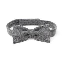 Hanna Hats Bow Tie Tweed Solid Grey