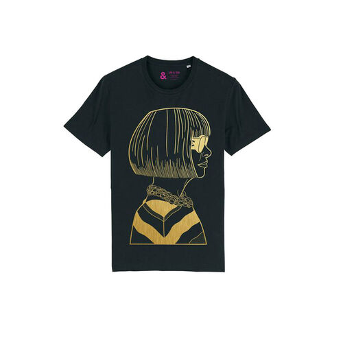 Jill & Gill Black Anna T Shirt S
