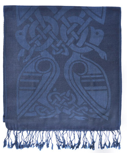 Patrick Francis Saxon Blue Celtic Design Wool Scarf