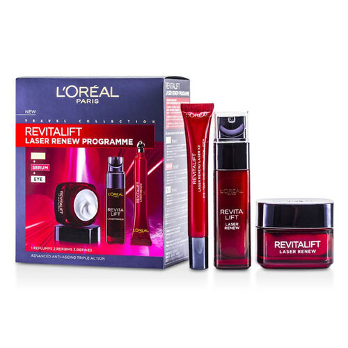 L'Oreal Paris Revitalift Laser Renew Programme  Day Cream + Serum + Eye Cream