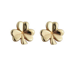Solvar 9Ct Shamrock Stud Small 11mm Post