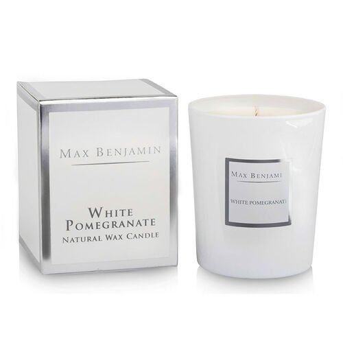 Max Benjamin White Pomegranate  Candle 190G