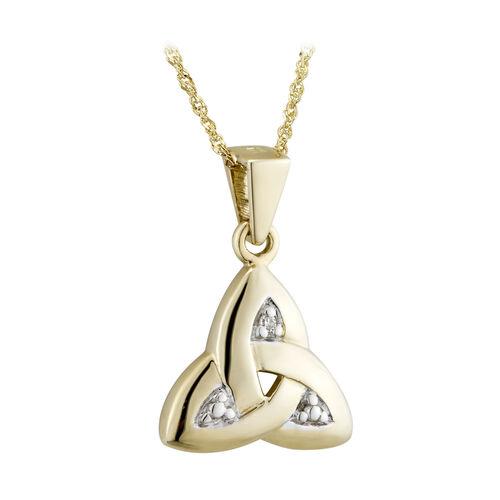 Solvar 14K Diamond Trinity Knot Knot