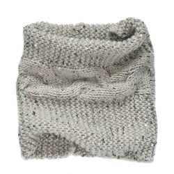 Patrick Francis Oatmeal Speckled Wool Snood