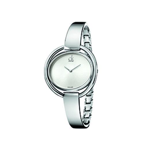 Calvin Klein Impetuous Bangle Watch Ladies Silver