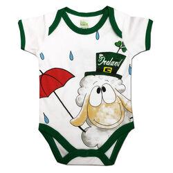 Irish Memories White Baby Vest With Sheep Design