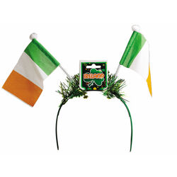 St Patrick Hairband with Flag Boppers