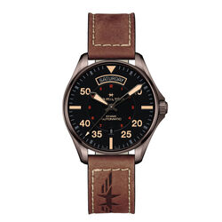 Hamilton Khaki Aviation Pilot Day/Date Auto 42mm Brown