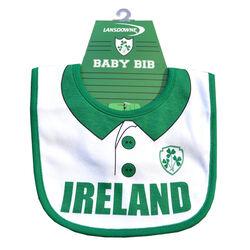 Lansdowne Kids Lansdowne Sports White Ireland Rugby Shirt Baby Bib  One Size