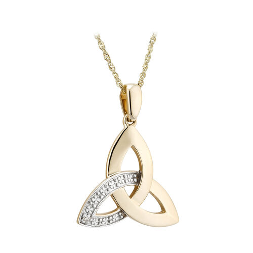 Solvar  9K Diamond Trinity Knot Pendant