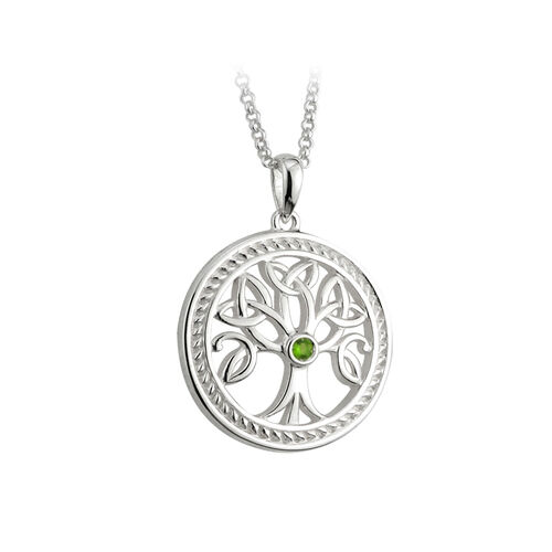 Solvar S/S Tree Of Life Pendant - Failte
