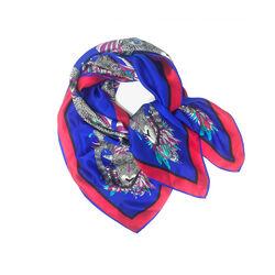Debbie Millington Ram in Blue Large Silk Wrap