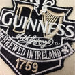 Guinness Guinness Cream And Black Long Sleeve Rugby Shirt  S
