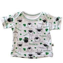 Irish Memories Green Embroidered Shamrock Weave Kids Slipper Sock