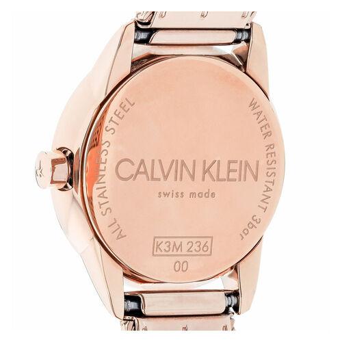 Calvin Klein Minimal Mesh Strap Watch Ladies Rose Gold