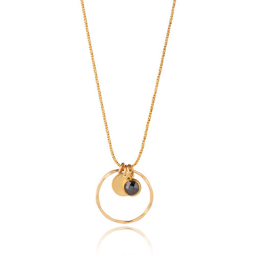 Scribble and Stone 14kt Gold Fill Hieroglyph Sun Pendant
