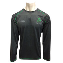 Irish Memories Grey Performance Long Sleeve Top