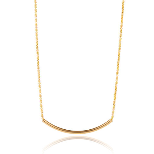 Scribble and Stone 14kt Gold Fill Crescent Pendant
