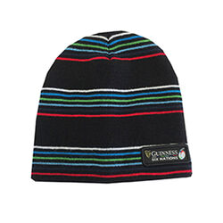 Guinness Black 6 Nations Multi Stripe Knit Hat  One Size