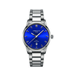 Certina C0244101104120 Ds 4 Gent Watch Blue 38mm