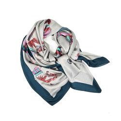 Debbie Millington Carousel Horses Large Silk Wrap