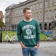 Trinity Bottle Green & White Trinity College Crest Sweatshirt   L