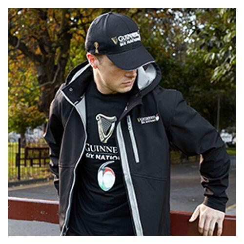 Guinness Black 6 Nations 3D Embossed Baseball Cap  One Size