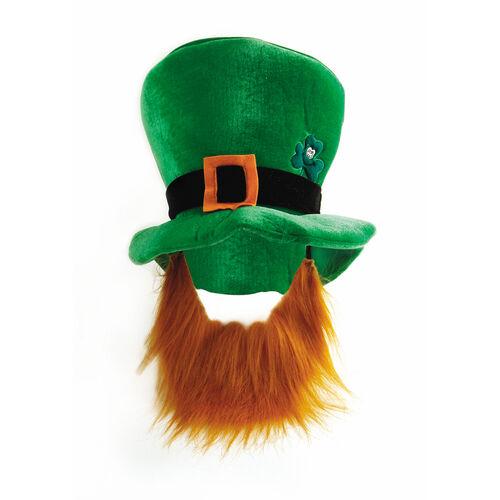 St Patrick Leprechaun Hat with Beard