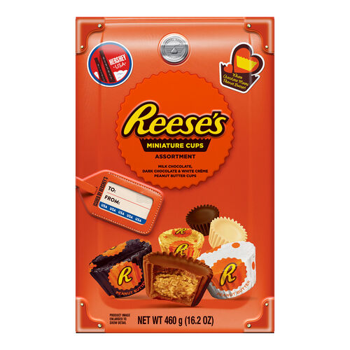 Hersheys Assorted Reese's Miniatures Traveler Collection Box  460g