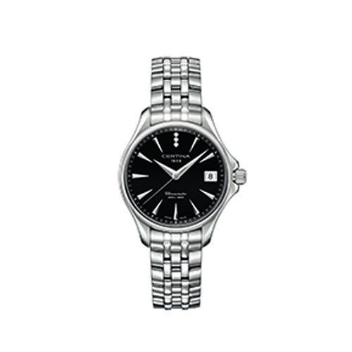 Certina C0320511105600 Ds Action Lady Watch Diamonds Black 33.8mm