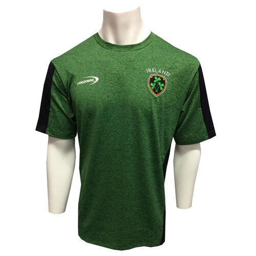 Irish Memories Green Black Marl Performance Top