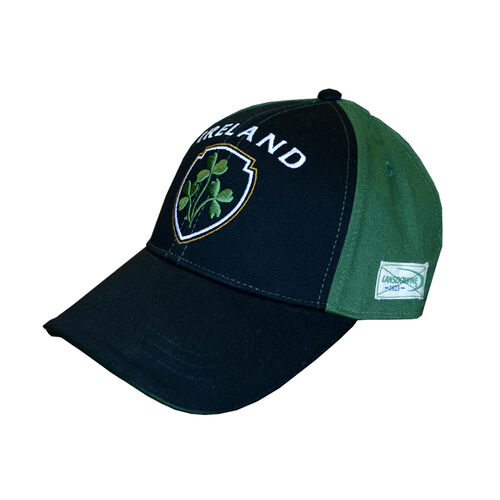 Lansdowne Adults Black Green Baseball Cap With Shamrock