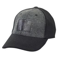 Traditional Craft Adults Black Tweed Suede Peak  Embossed Baseball Cap