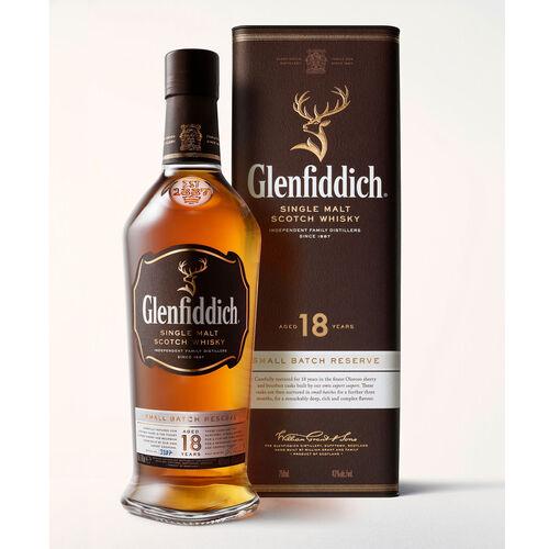 Glenfiddich 18YO Single Malt Scotch Whisky 70cl