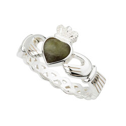 Solvar  S/S Marble Claddagh Weave Ring