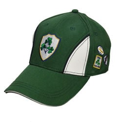 Lansdowne Adults Green White Baseball Cap With Crest