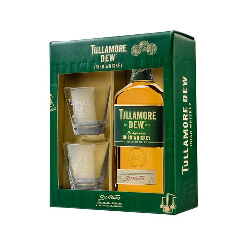 Tullamore D.E.W. Irish Whiskey Glass Pack 70cl