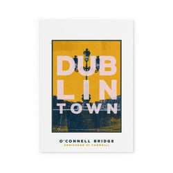Jando  Dublin Town O'Connell Bridge Small Print A4