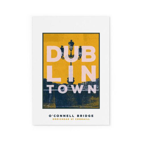 Jando  Dublin Town O'Connell Bridge Small Print A4