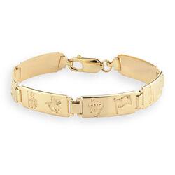 Solvar  14K Hoi Ladies 6 Link Bracelet