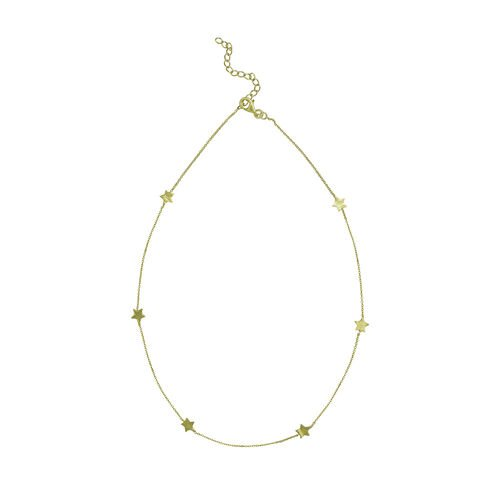 Juvi Designs Star Cluster Short Gold Necklace  One Size